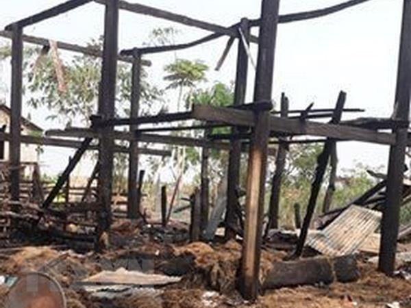 Gia Lai: Cháy nhà sàn trong đêm, bé gái 3 tuổi tử vong