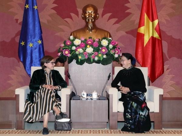 Chủ tịch Quốc hội Nguyễn Thị Kim Ngân tiếp Phó Chủ tịch EP - 1