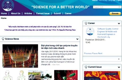 Tạp chí khoa học trực tuyến của các nhà khoa học trẻ Việt Nam