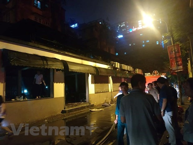 Hà Nội: Quán bia Hải Xồm bất ngờ bốc cháy dữ dội trong đêm - 2
