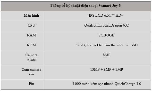 Vingroup ra mắt Vsmart Joy 3 'chất như mơ' trong phân khúc 2 triệu - 3