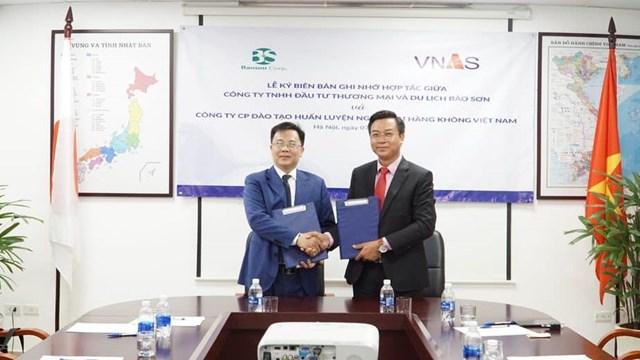 VNAS và Tập đoàn Bảo Sơn ký hợp tác đào tạo nhân lực hàng không