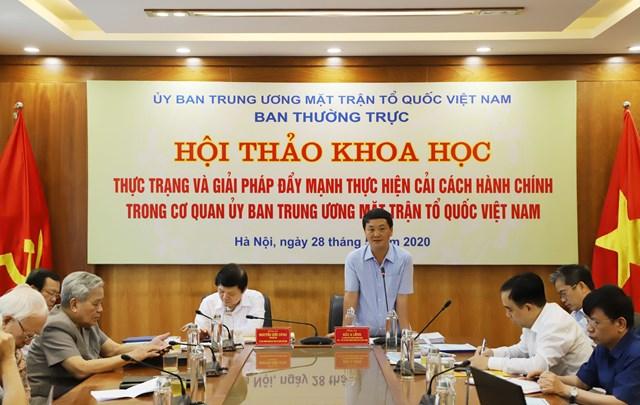 Đẩy mạnh cải cách hành chính trong cơ quan UBTƯ MTTQ Việt Nam - 3