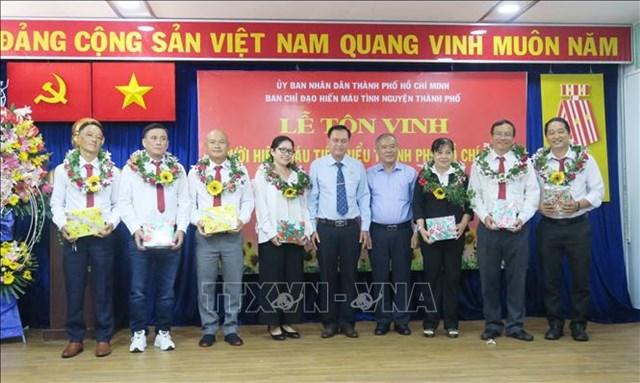 TP Hồ Chí Minh: Tôn vinh người hiến máu tình nguyện tiêu biểu