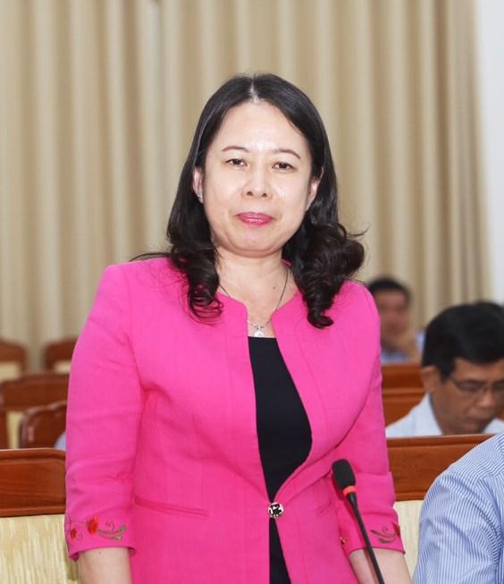 Bí thư Tỉnh uỷ An Giang Võ Thị Ánh Xuân phát biểu thảo luận.