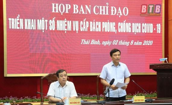 Lãnh đạo tỉnh Thái Bình hủy 'công tác', về chỉ đạo phòng chống dịch Covid-19