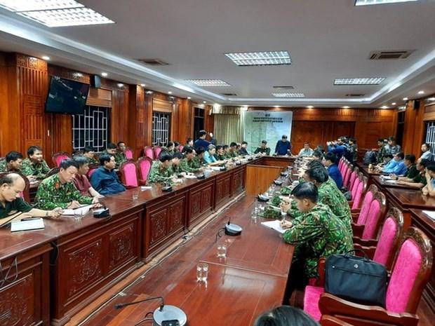 Cuộc họp về vụ sạt lở tại xã Trà Leng. (Ảnh: Tienphong.vn).