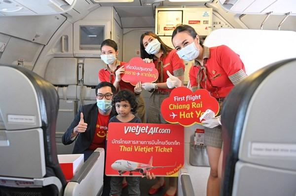Vietjet khai thác 14 đường bay nội địa Thái Lan.