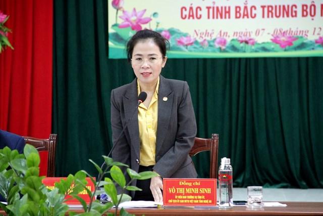 """Bà Võ Thị Minh Sinh, Chủ tịch Ủy ban MTTQ tỉnh Nghệ An khẳng định """"Người mặt trận Nghệ An đã chuyển từ tự ti sang tự tin""""."""