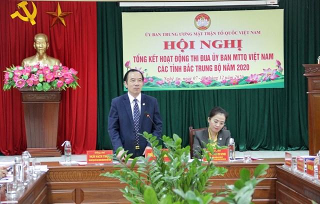 Phó Chủ tịch UBTƯ MTTQ Việt Nam Ngô Sách Thực kết luận Hội nghị.