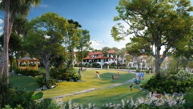 Dự án được đầu tư lớn vào cảnh quan với tổng diện tích cây xanh lên tới 19 nghìn m2. (Ảnh mang tính minh họa).