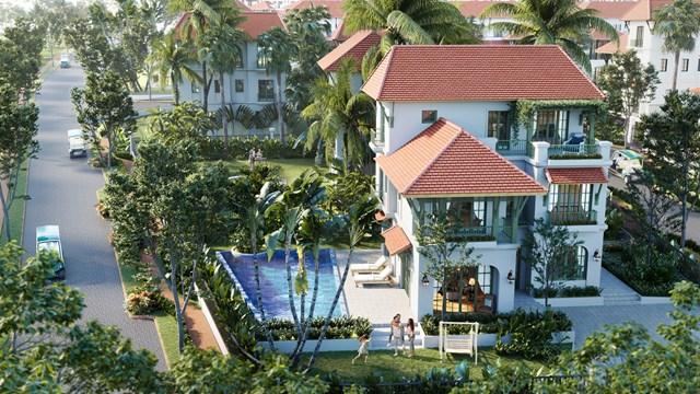Khuôn viên sân vườn xanh mướt của biệt thự Sun Tropical Village. (Ảnh mang tính minh họa).