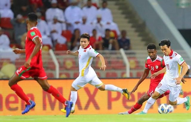 Tuyển Việt Nam thua ngược trước Oman. Nguồn: VFF.