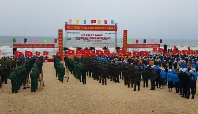 """Lễ phát động """"Tết trồng cây đời đời nhớ ơn Bác Hồ"""" xuân Tân Sửu diễn ra ở tỉnh Quảng Bình."""