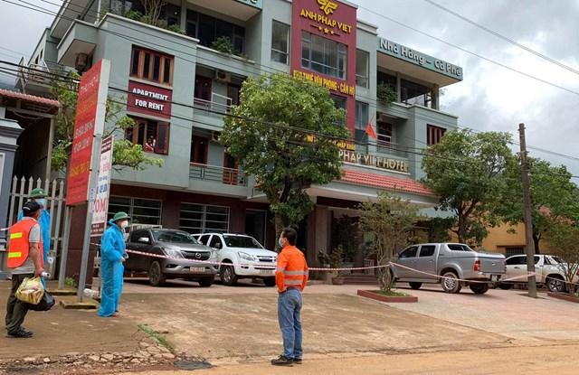 Phong tỏa khách sạn ở Cha Lo nơi người lái xe thuê để nghỉ.
