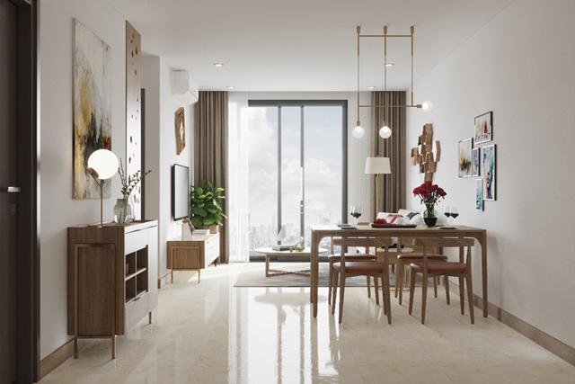 Các căn hộ tại Rose Town có diện tích 52 - 88m2, gồm 2 - 3 phòng ngủ, bàn giao đầy đủ nội thất liền tường chất lượng cao.