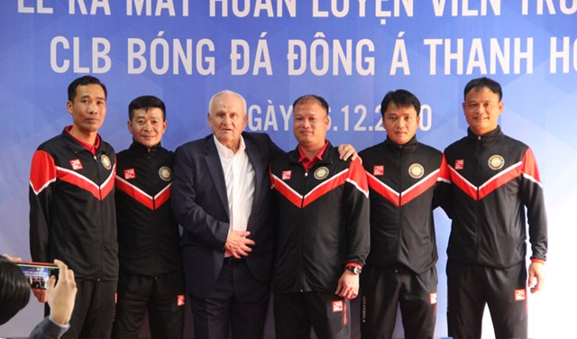 BHL CLB Đông Á Thanh Hóa trong mùa giải 2021.