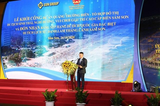 Ông Đặng Minh Trường- Chủ tịch HĐQT Tập đoàn Sun Group phát biểu tại sự kiện