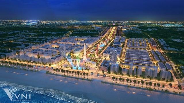 Phối cảnh dự án quảng trường biển và tổ hợp đô thị du lịch sinh thái, nghỉ dưỡng, vui chơi giải trí cao cấp biển Sầm Sơn