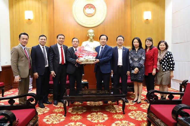 Hội Thánh Phúc âm toàn vẹn Việt Nam chúc Tết UBTƯ MTTQ Việt Nam.