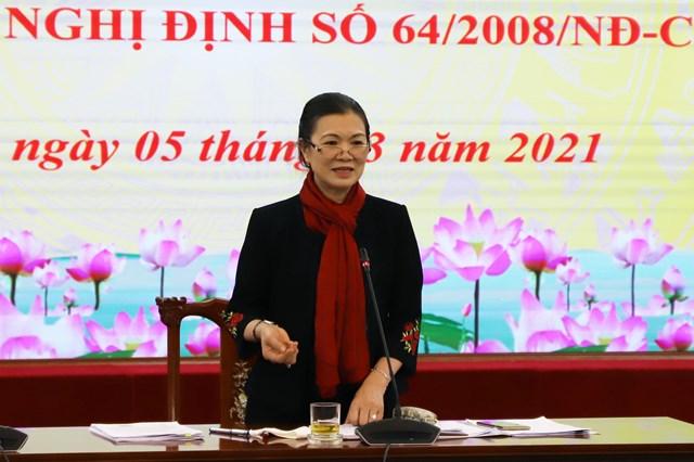 Phó Chủ tịch Trương Thị Ngọc Ánh phát biểu tại Hội nghị.