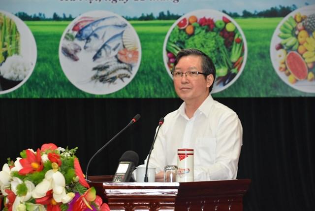 Chủ tịch Hội Nông dân Việt Nam Lương Quốc Đoàn phát biểu tại Lễ phát động.