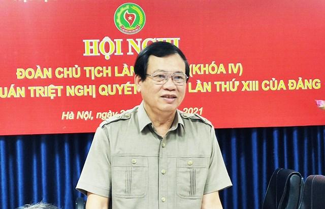 Ông Vũ Trọng Kim, Chủ tịch Hội cựu TNXP Việt Nam.