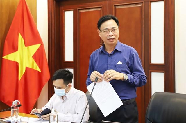 Ông Lưu Xuân Thủy, Vụ trưởng Vụ Dân tộc thiểu số, Ủy ban Dân tộc phát biểu tại Hội nghị.
