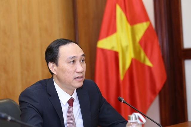 Phó Chủ tịch UBTƯ MTTQ Việt Nam Phùng Khánh Tài tại Hội nghị trực tuyến. Ảnh: Kỳ Anh.