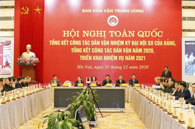 Trưởng ban Dân vận Trung ương Trương Thị Mai chủ trì Hội nghị. Ảnh: Quang Vinh.