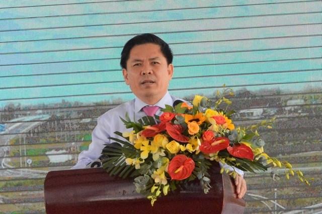 Ông Nguyễn Văn Thể Bộ Trưởng bộ GTVT phát biểu tại buổi lễ.