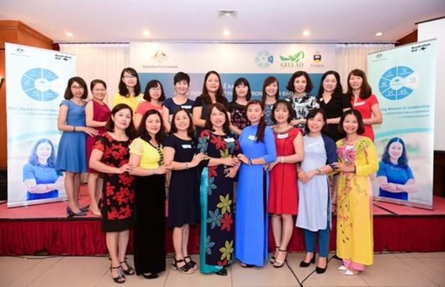 Các học viên tại một chương trình đào tạo phụ nữ lãnh đạo do Australia hỗ trợ.