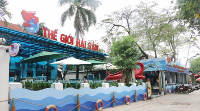 Nhà hàng Thế giới Hải sản tại số 9A Đào Tấn vốn là đất của Vườn thú Hà Nội