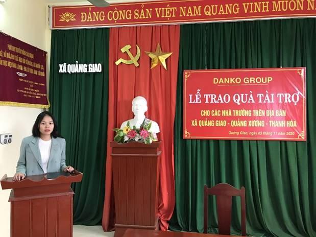 Bà Vũ Minh Châu, Giám đốc Ban Marketing và Truyền thông, Tập đoàn Danko phát biểu tại buổi lễ.