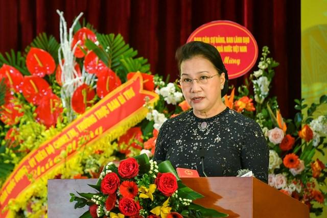 Chủ  tịch Quốc hội Nguyễn Thị Kim Ngân đánh giá cao các kết quả ngành Ngân hàng đạt được trong thời gian qua