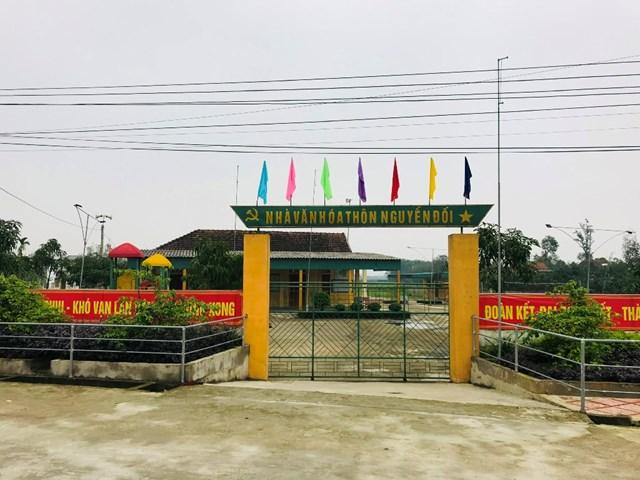 Nhà văn hóa khu dân cư NTM kiểu mẫu Nguyễn Đối.