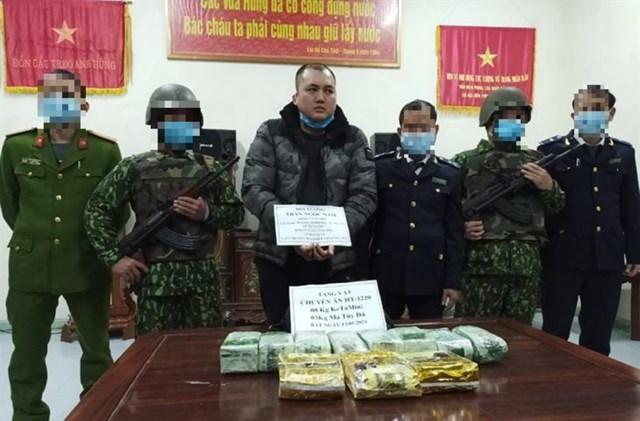 Đối tượng Trần Ngọc Nam bị bắt khi đang vận chuyển số lượng lớn ma túy.