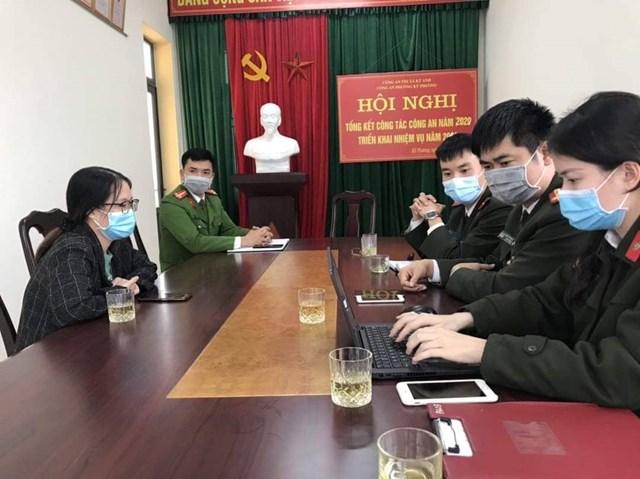 Mai Thị Thùy Linh làm việc với cơ quan Công an.