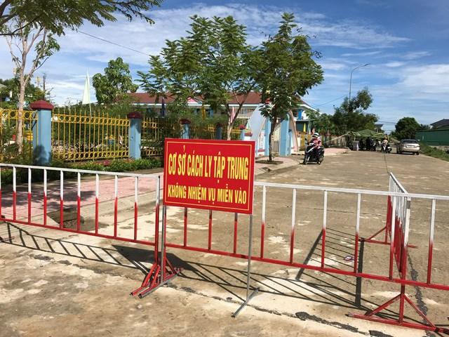 Điểm cách ly Trường mầm non thị trấn Thạch Hà.