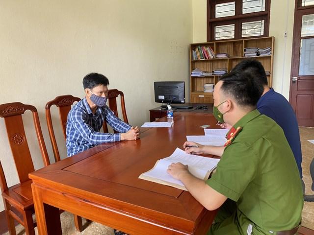 Nguyễn Văn Chung làm việc với cơ quan công an.