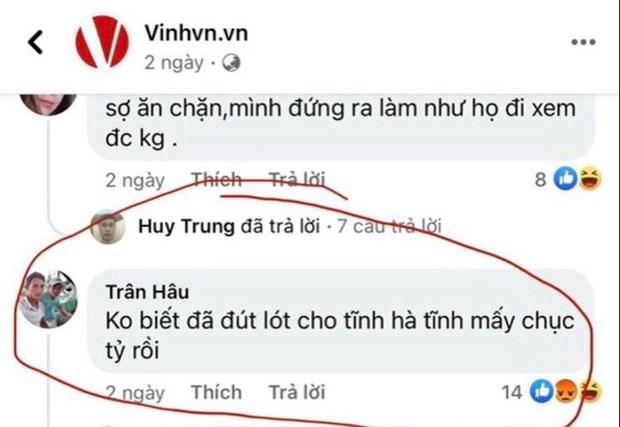 Bình luận của T.V.H trên Fanpage Vinhvn.vn.