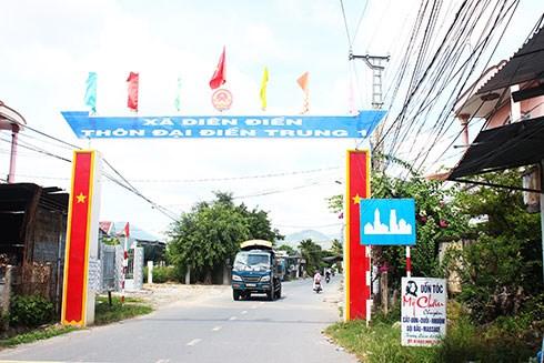 Con đường mới khang trang, tại khu dân cưa xã Diên Điền, huyện Diên Khánh.