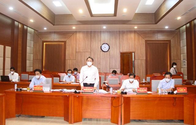 Ông Nguyễn Hải Ninh, Bí thư Tỉnh ủy Khánh Hòa, phát biểu tại buổi làm việc.