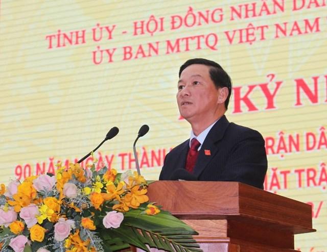 Ông Trần Đức Quận, Bí thư Tỉnh ủy, Chủ tịch HĐND tỉnh Lâm Đồng phát biểu tại buổi lễ.