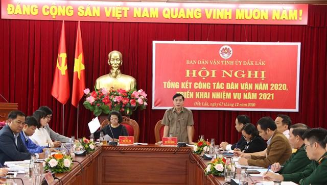 Ông Bùi Văn Cường, Bí thư Tỉnh ủy Đắk Lắk phát biểu tại hội nghị.