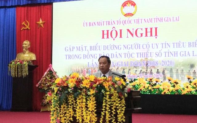 Ông Châu Ngọc Tuấn, Phó Bí thư thường trực - Chủ tịch HĐND tỉnh Gia Lai, phát biểu tại Hội nghị.