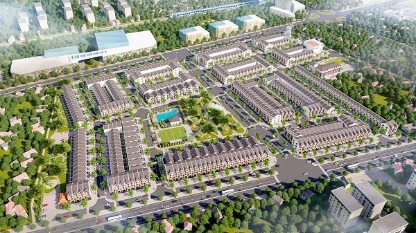 Mô hình nhà ở biệt tự tại Dự án bất động sản Cảng Phú Định