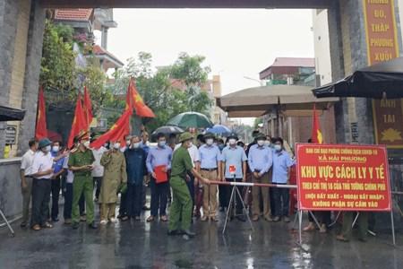Các khu dân cư ở huyện Hải Hậu bị giãn cách được dỡ bỏ phong tỏa.