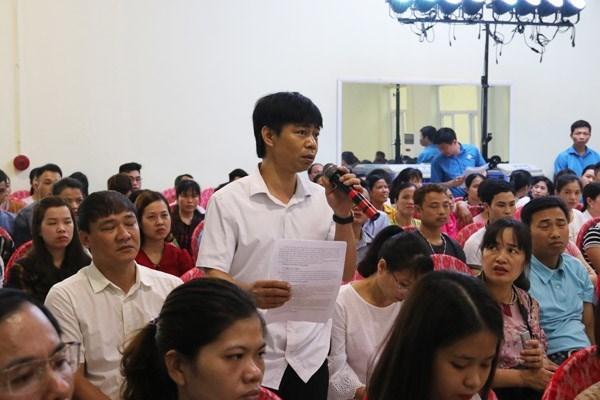 """Một trong những người lao động bị doanh nghiệp nợ bảo hiểm """"tố khổ"""" với Chủ tịch UBND tỉnh Nam Định."""