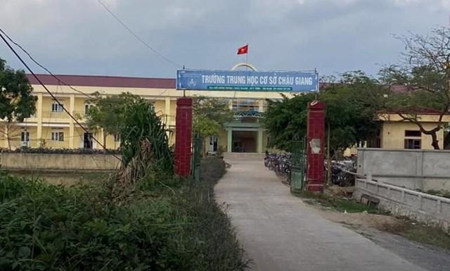 THCS Châu Giang,nơi xảy ra sự việc